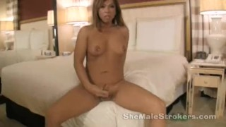 Lady Cock T girl Hannah Shemale Strokers with Pierced Nipples
