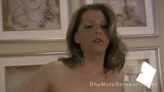 Preview 4 of Tyra Scott Shemale Strokers 7 inches of hard She-Cock