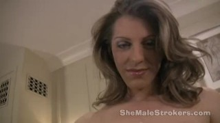 Preview 5 of Tyra Scott Shemale Strokers 7 inches of hard She-Cock