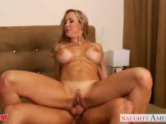 Busty blonde mom Brandi Love suck and fuck cock
