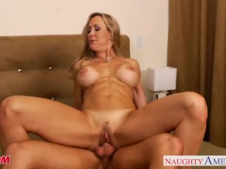 Hairy Amateur Babes Busty blonde mom Brandi Love suck and fuck cock