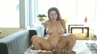 HD PornPros - Huge natural tits Marina Visconti bounces on cock Big style