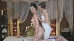 Massage Rooms Czech teen models in ultra hot sensual lesbian encounter