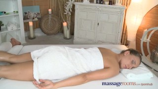 Preview 1 of Massage Rooms Young beautiful teen lesbians have intense oily G-spot fun