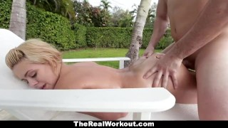 Therealworkout housewife horny poolboy fucks the big tits