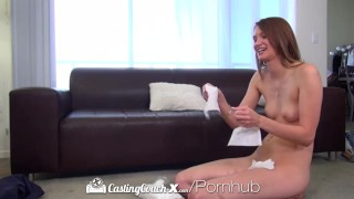 HD CastingCouch X Long legged Sophia Wilde fucked on the casting couch