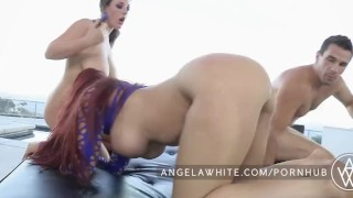 Big Tit Australian Angela White All Anal Threesome Anal sucking