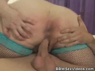 BBW Julie Moore In Fishnets Fucked