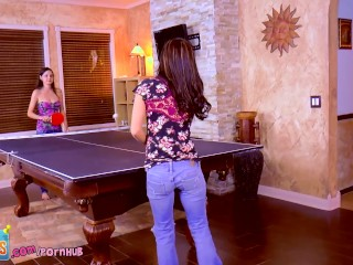 Wild! teen girl beauties cum on ping pong table! rilee marks maryjane