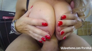 Cover My Big Tits in Jizz! MILF Vicky Vette!!
