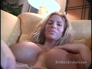 Skinny Blonde Shemale Anna Alexandre Tranny Jacking Big Cock