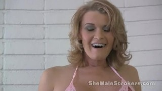 Preview 1 of TS Astrid Shemale JOI Jerk Off Instructions from Tranny