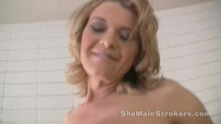 Preview 3 of TS Astrid Shemale JOI Jerk Off Instructions from Tranny