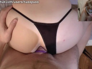 Anal toying ends in creampie