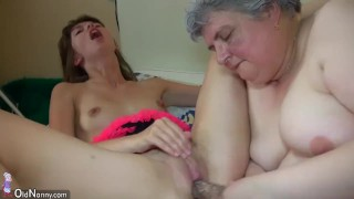 Big BBW Granny playing with to young Girl