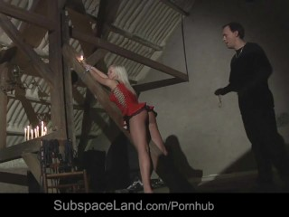 Sexy blonde Zafira bearing rough Bdsm