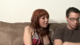 Redhead MILF Is So Horny She Fucks Her Stepson