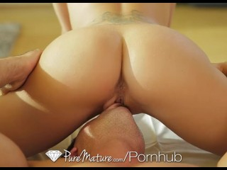 HD PureMature – Seductive vixen Capri Cavanni creams all over dick