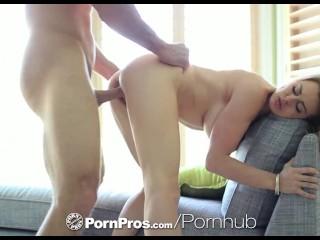 HD PornPros - Big tit blonde Corrine Blake fucks and deep throats hard cock