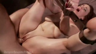 Bella rossi bound and fucked viciously domination master