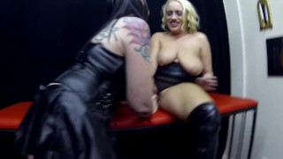 Latex Sookie blues get fucked in dungeon with strap on light bdsm
