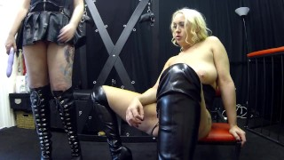 Latex Sookie blues get fucked in dungeon with strap on light bdsm Job blow