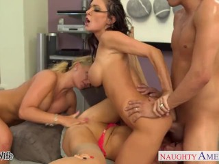 The Swinger Experience Presents Jessica Jaymes, Phoenix Marie and Romi Rain fuck in foursome