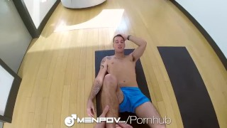 Hot turns sex into hd workout session menpov sex cock