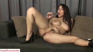Valentina Nappi Toys Trimmed Pussy Cumshot wanking