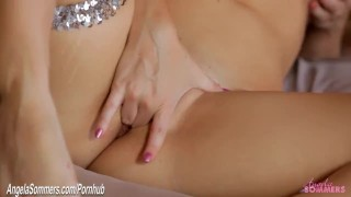 Masturbating babe finger fucking pussy deep