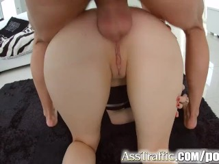 Christi Glamour Shot Ass Traffic Rough Anal Sex And Deepthroating For Russian Teen, Hardcore Anal