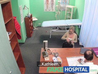 Amateur Forced Bi FakeHospital Hot blonde loves the doctors muscles and smooth talking charm