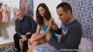 Old Goes Young - Nadya and her man are in the bedroom porno