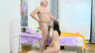 Old Goes Young Alena and her man are together in bed