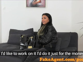 Fakeagent sexy 18 year old babe takes first time creampie in office