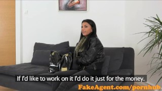 FakeAgent Sexy 18 year old babe takes first time Creampie in Office Jd butt