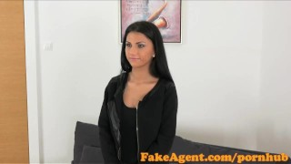 FakeAgent Sexy 18 year old babe takes first time Creampie in Office Slutty milf