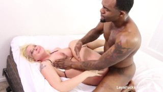 Gets cock fucked a falcon ass black huge by leya blonde big