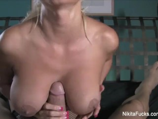 Old Swinging Tits Nikita Von James Pov Fuck, Big Tits Blonde Milf Pornstar Pov