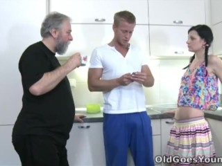 Old Goes Young – Karina kneels before both of her men