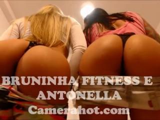 Preview 3 of Brazilian Babe teen lesbians - Fitness big ass shaking
