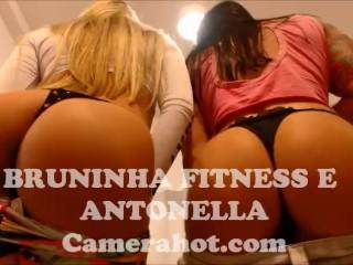 Preview 6 of Brazilian Babe teen lesbians - Fitness big ass shaking