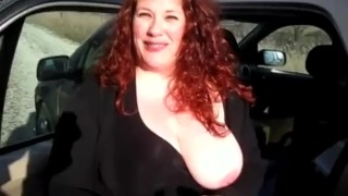 Housewife Has first Gloryhole Experience  big tits homemade bbw redhead amateur blowjob gloryhole jizz cumshot chubby busty housewife big boobs homegrownvideo