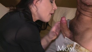 Old to his get mom george tricks to milf uses new climax haired dark