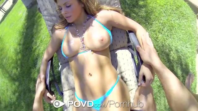 HD POVD - Keisha Grey loses rips off her bikini to get fucked