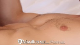 HD ManRoyale - Anal beads and fleshlight make cute guys cum hard