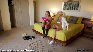 Masturbating von's stepsister her halle catches lesbain facesitting