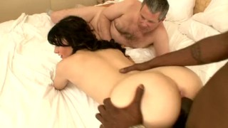 hot ghetto booty white slut cuckolds some douche  spitroast interracial cowgirl deepthroat ass eating bbc rimjob kissing cuckold black cock tattoo small tits
