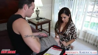 Chesty mom Francesca Le fucking a large dick Huge babe