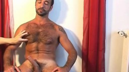 Sexy mature arab guy serviced his big cock by a guy in spite of him !
